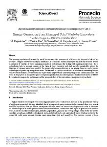 Energy Generation from Municipal Solid Waste by ... - ScienceDirect