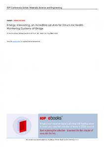 Energy Harvesting, an incredible solution for