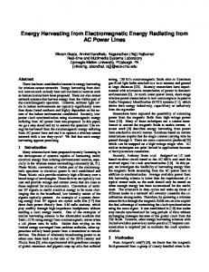 Energy Harvesting from Electromagnetic Energy Radiating from AC ...