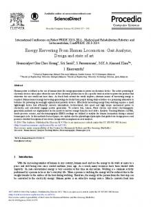 Energy Harvesting from Human Locomotion: Gait ... - ScienceDirect.com