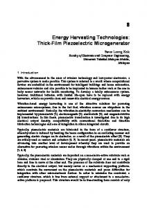 Energy Harvesting Technologies: Thick-Film