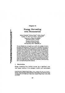 Energy Harvesting with Biomaterials