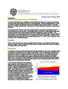 Energy: Home Energy Audit - ESA21
