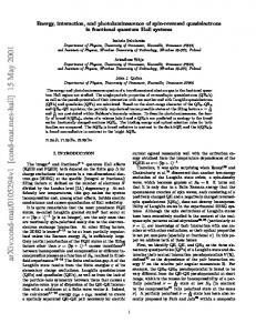 Energy, interaction, and photoluminescence of spin-reversed ...