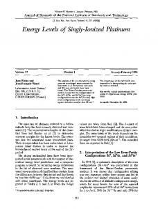 Energy levels of singly-ionized platinum - NIST Page - National ...