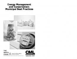 Energy Management and Conservation, Municipal Best Practices.