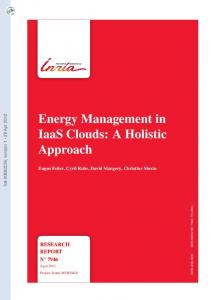 Energy Management in IaaS Clouds: A Holistic