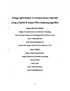 Energy optimization in wireless sensor networks ...