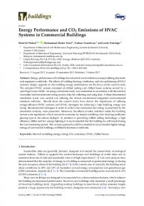 Energy Performance and CO2 Emissions of HVAC Systems in ... - MDPI