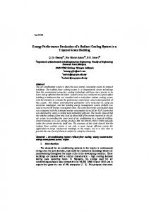 Energy Performance Evaluation of a Radiant Cooling ...