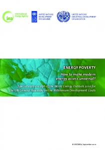 Energy poverty - How to make moder energy access universal?