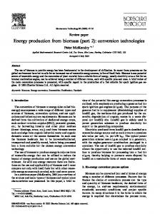 Energy production from biomass (part 2