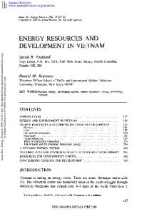 Energy Resources and Development in Vietnam