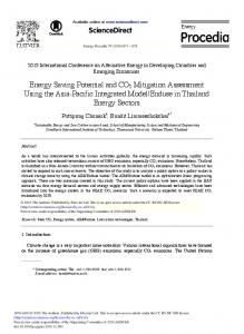 Energy Saving Potential and CO2 Mitigation Assessment Using ... - Core