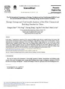 Energy Savings and Cost-benefit Analysis of the ... - ScienceDirect.com