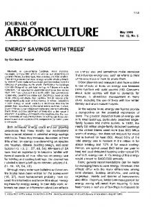 energy savings with trees1 - Arboriculture & Urban Forestry