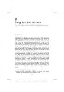 Energy Security in Indonesia - Core