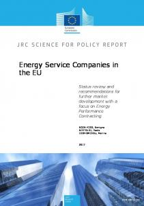 Energy Service Companies in the EU - JRC Publications Repository