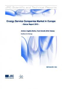 Energy Service Companies Market in Europe