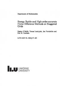 Energy Stable and High-order-accurate Finite Difference Methods on