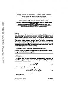 Energy Stable Discontinuous Galerkin Finite Element Method for the ...