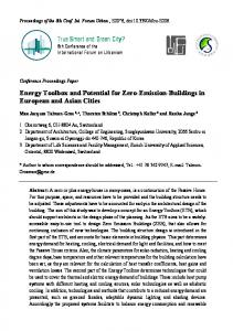 Energy Toolbox and Potential for Zero-Emission-Buildings in ...