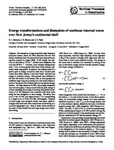 Energy transformations and dissipation of nonlinear ... - CiteSeerX