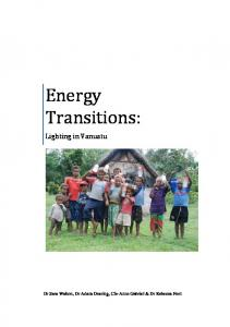 Energy Transitions - UQ eSpace