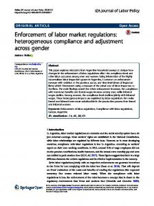 Enforcement of labor market regulations - IZA Journal of Labor Policy