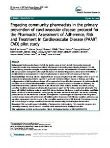 Engaging community pharmacists in the primary ... - BioMedSearch