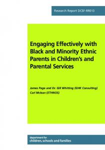 Engaging Effectively with Black and Minority Ethnic Parents in ...