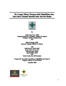 Engaging Victims of Domestic Violence in the Drumheller Region of