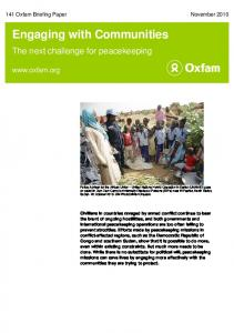 Engaging with Communities - Oxfam International