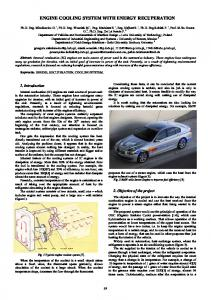 engine cooling system with energy recuperation