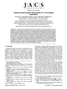 Engineered Biocompatible Nanoparticles for in ... - ACS Publications