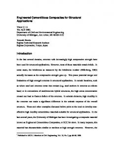 Engineered Cementitious Composites for Structural ... - CiteSeerX
