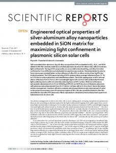 Engineered optical properties of silver-aluminum alloy ...