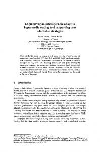 Engineering an interoperable adaptive hypermedia ... - Springer Link