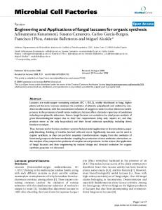 Engineering and Applications of fungal laccases for organic synthesis
