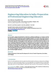 Engineering Education in India - Scientific Research Publishing