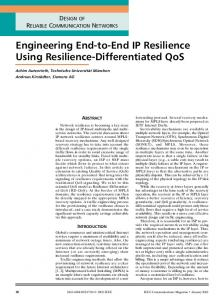 Engineering End-to-End IP Resilience Using Resilience-Differentiated ...