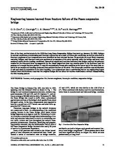 Engineering lessons learned from fracture failure of