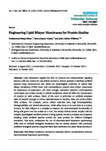 Engineering Lipid Bilayer Membranes for Protein ... - BioMedSearch