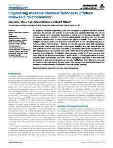 Engineering microbial chemical factories to produce ... - BioMedSearch