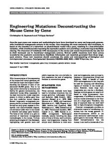 Engineering mutations: Deconstructing the ... - Wiley Online Library