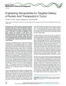 Engineering Nanoparticles for Targeted Delivery of