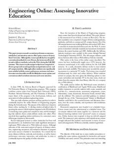 Engineering Online: Assessing Innovative ... - Wiley Online Library