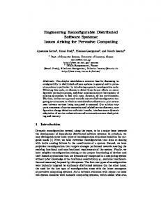 Engineering Reconfigurable Distributed Software Systems ... - CiteSeerX