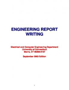 ENGINEERING REPORT WRITING - Open Computing Facility