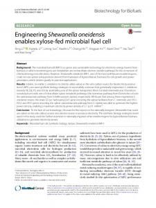 Engineering Shewanella oneidensis enables xylose-fed microbial fuel ...